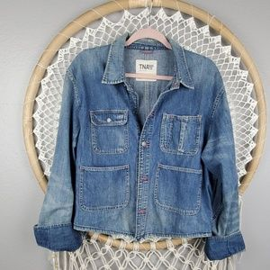 Aritzia TNA Tried & Tested denim oversized jacket